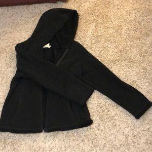 Black fuzzy hoodie